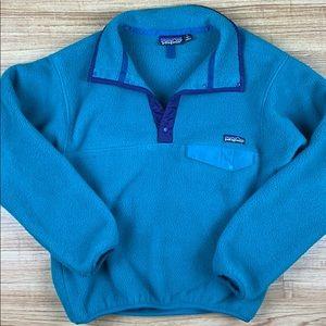 Patagonia Vintage Teal Synchilla Fleece Jacket S